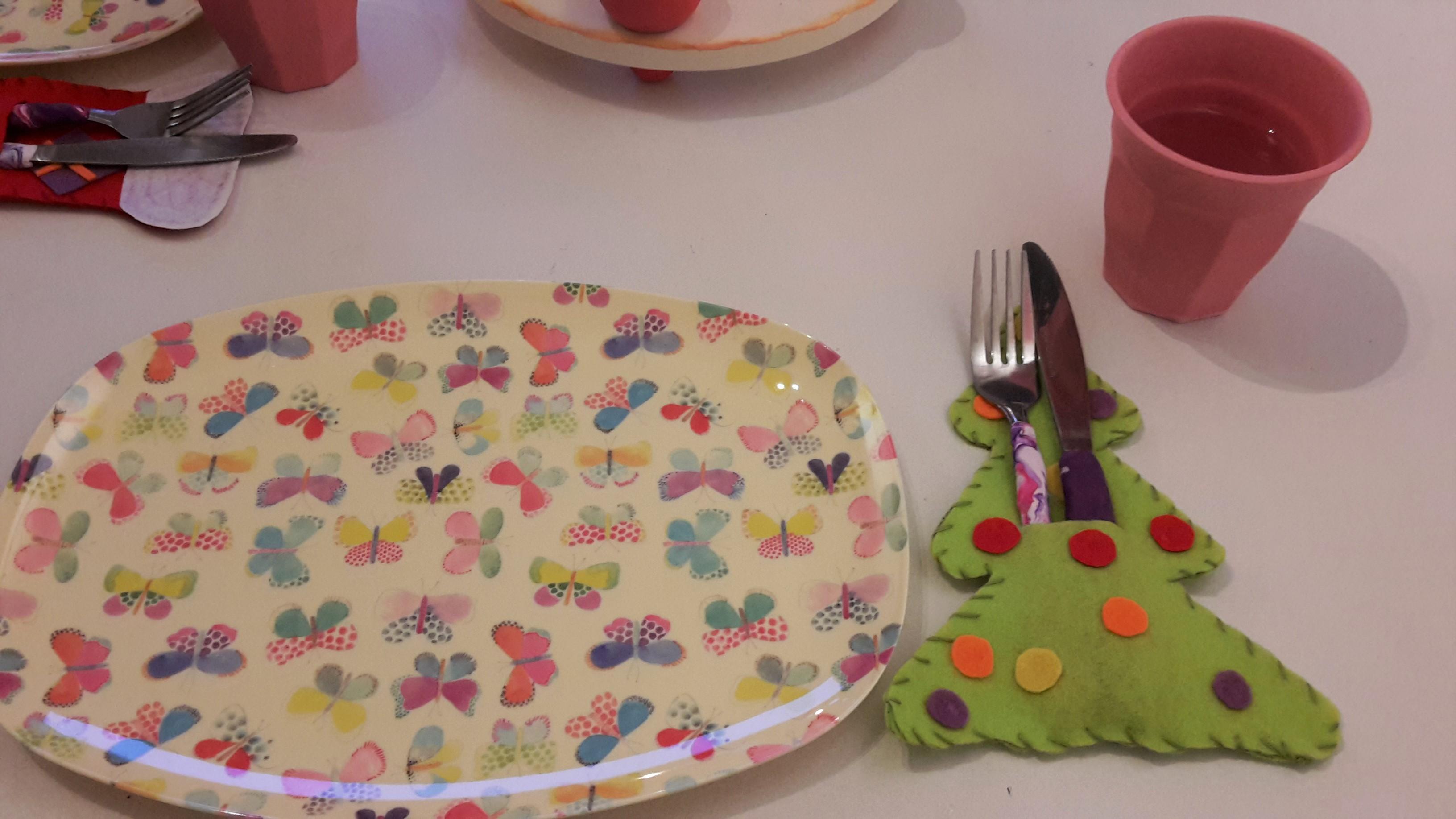 Tischdeko zu Weihnachten aus Filz – DIY