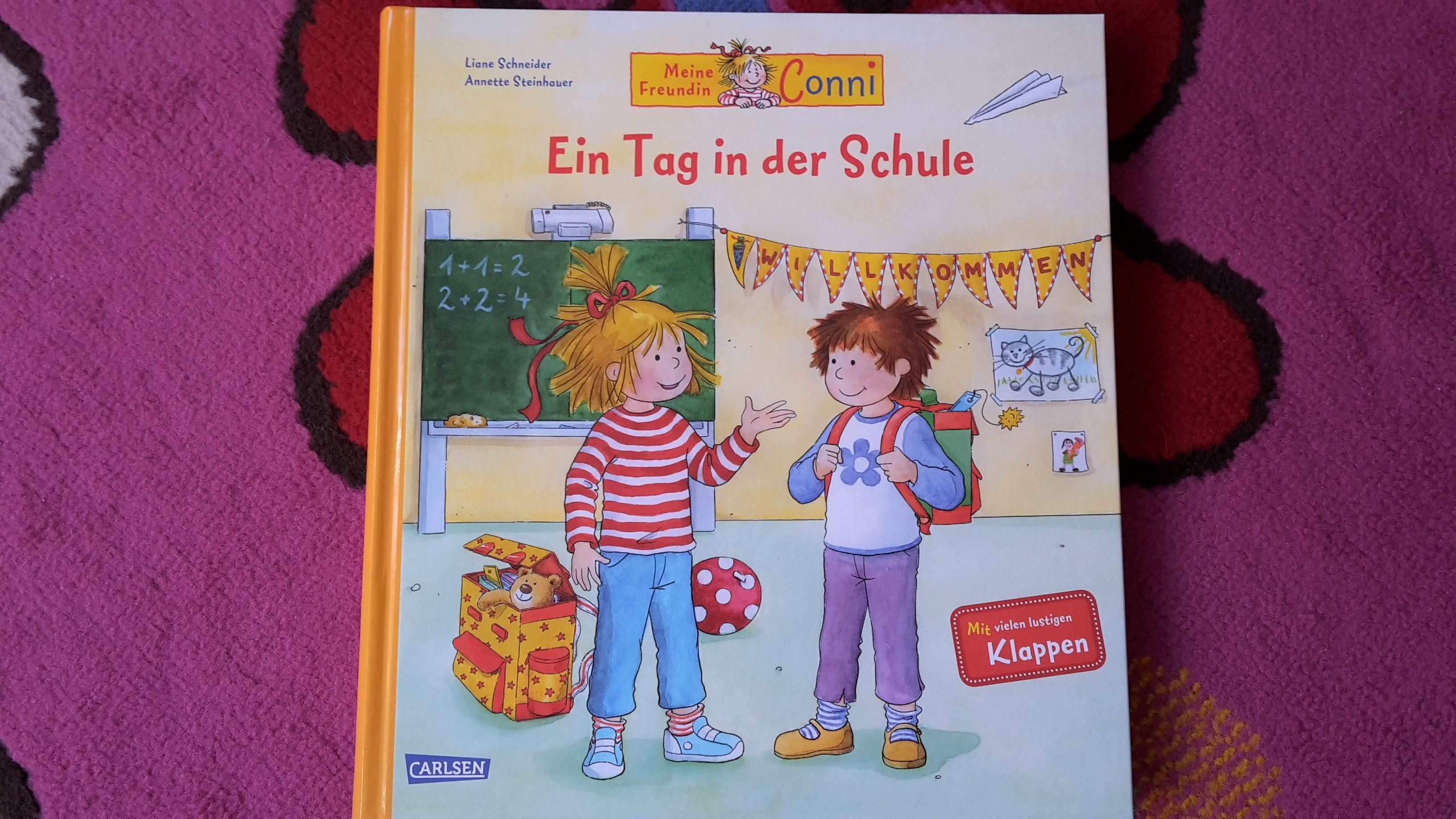 Mit Conni einen Tag in der Schule – Klappenbuch