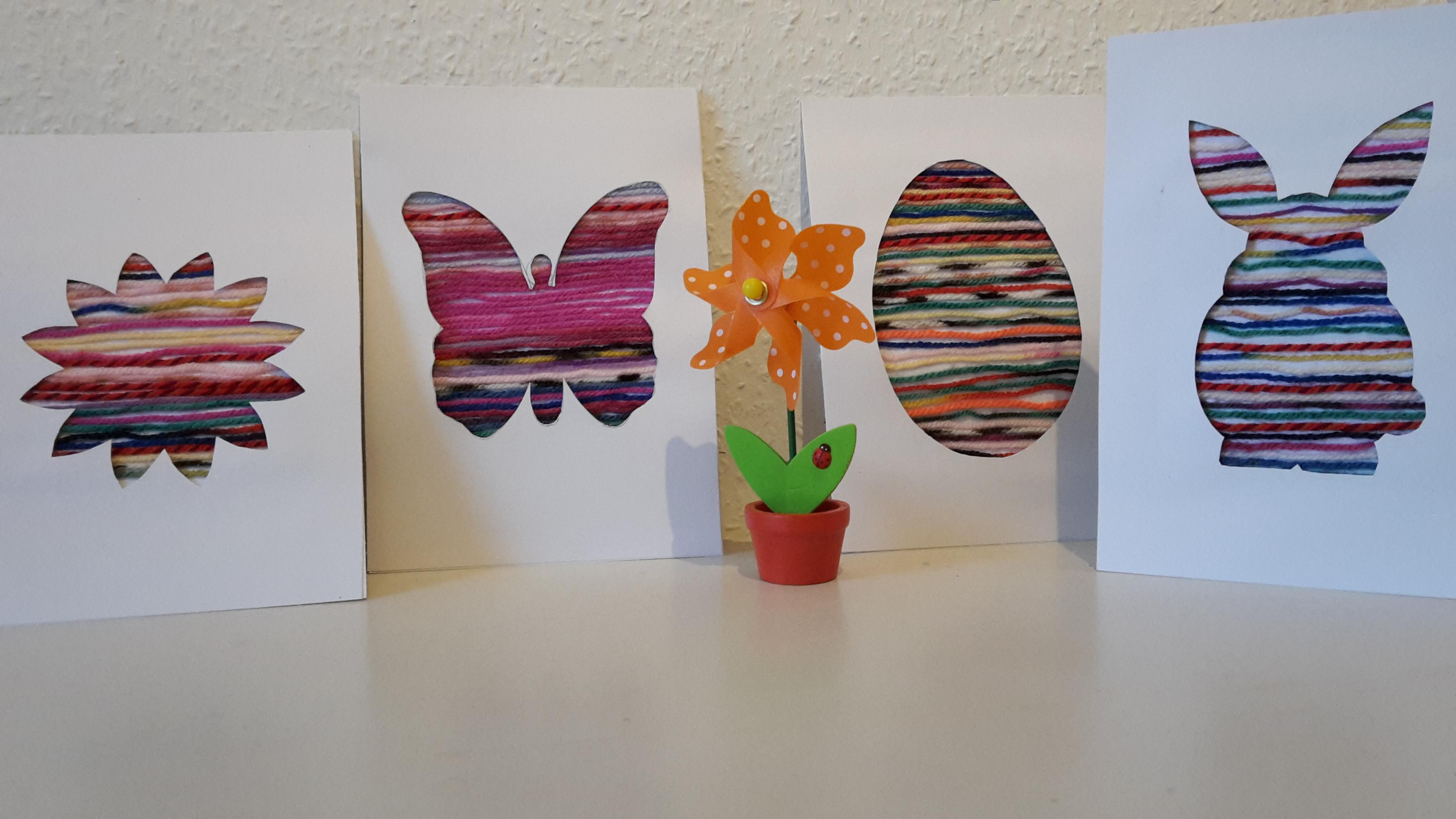Bunte Fadenbilder Zu Ostern Basteln Mit Kinder Der