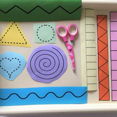 Mit der Schere schneiden üben – Montessori
