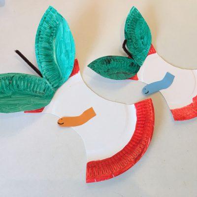 Apfel aus Pappteller – Basteln mit Kindern