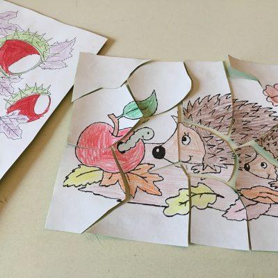 Bilder Puzzle für Kinder selber machen