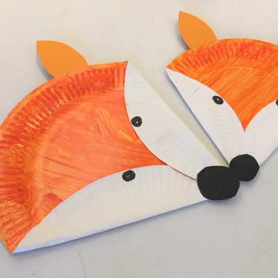 Fuchs aus Pappteller – Basteln mit Kindern