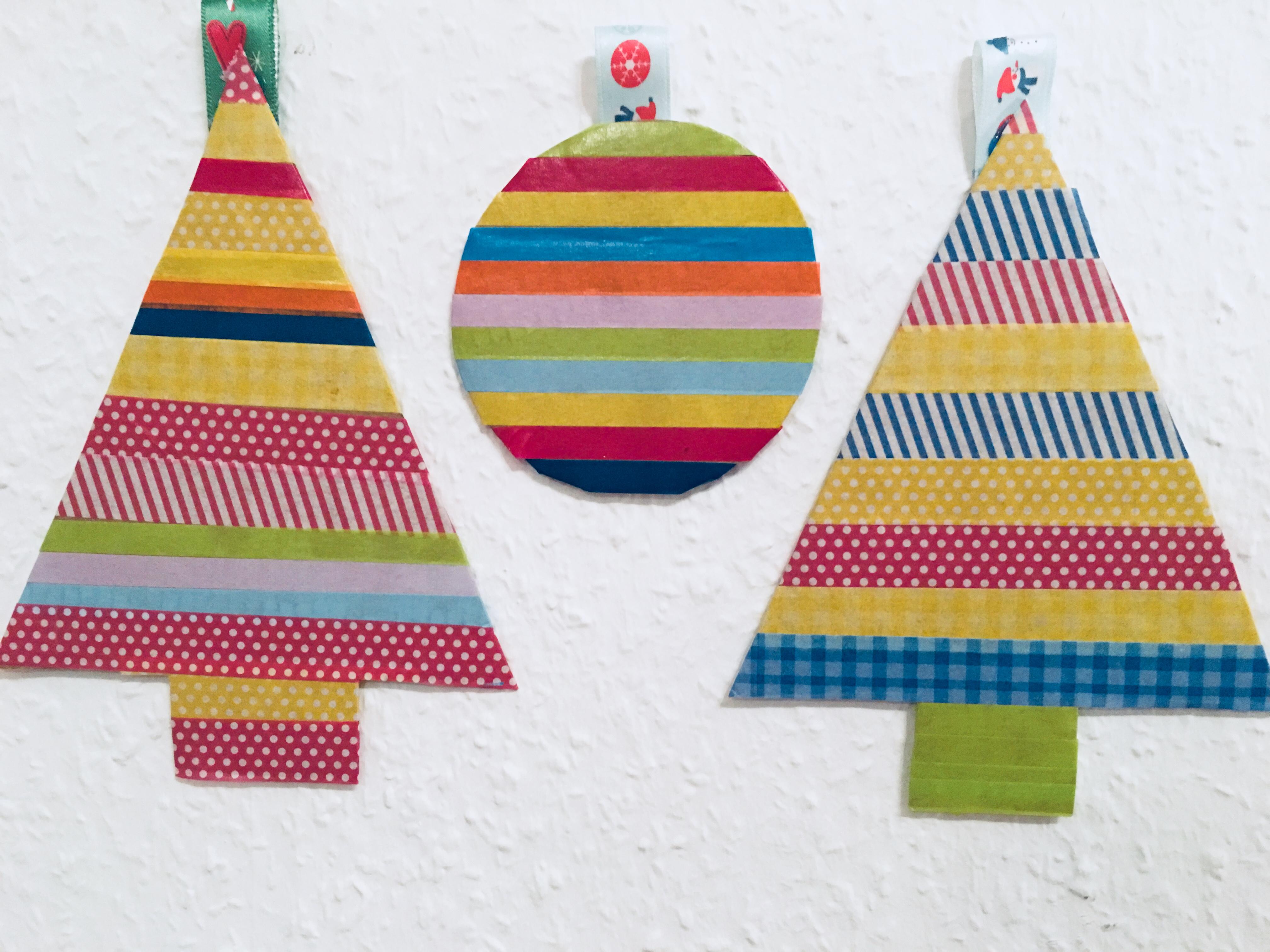 Weihnachtsdeko mit washi tape basteln mit kindern der familienblog f r kreative eltern - Weihnachtsdeko basteln mit kindern ...