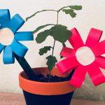 Kleine einfache Blumen – Basteln mit Kindern