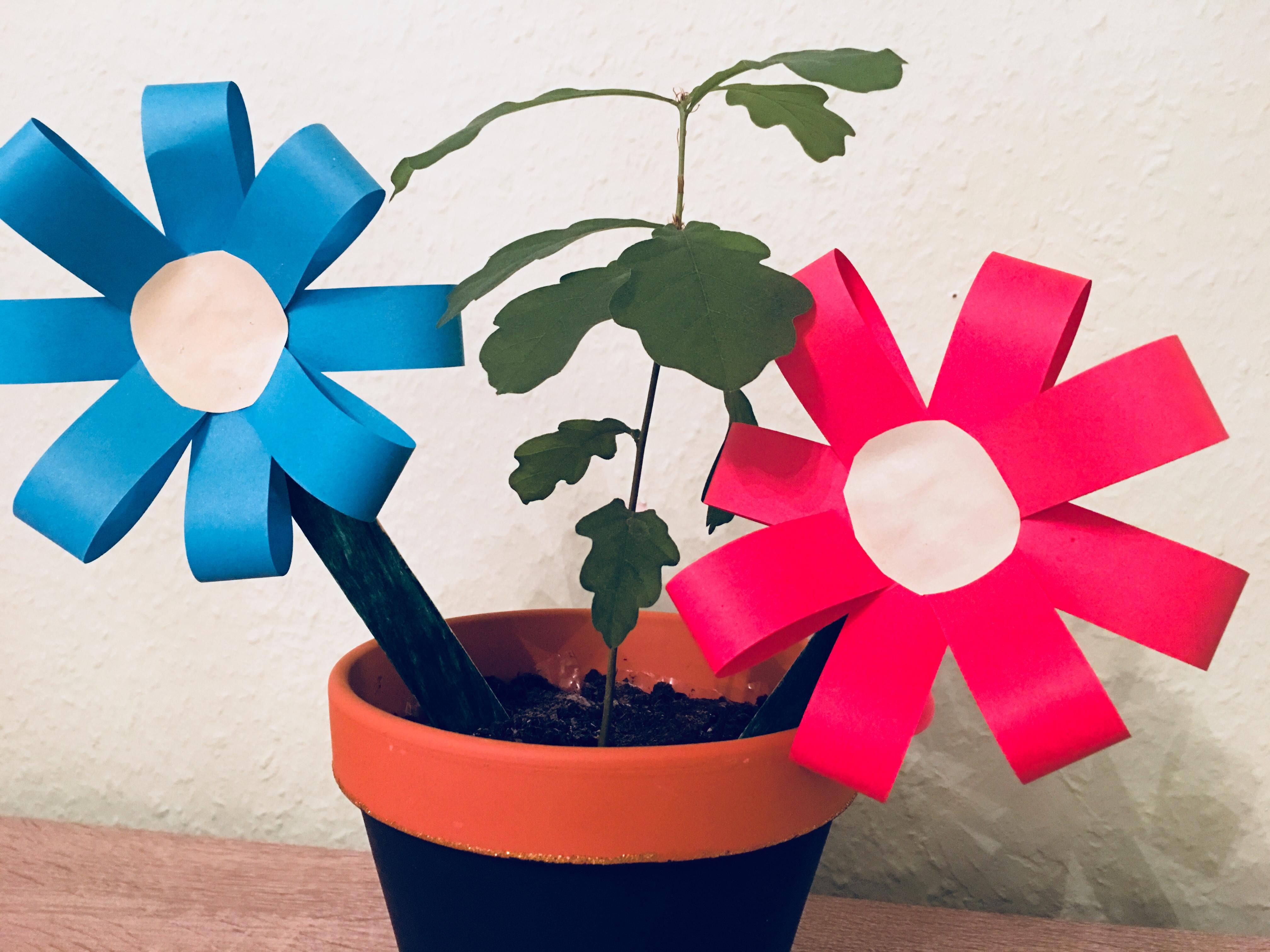 Hervorragend Kleine einfache Blumen - Basteln mit Kindern | Der Familienblog DX33