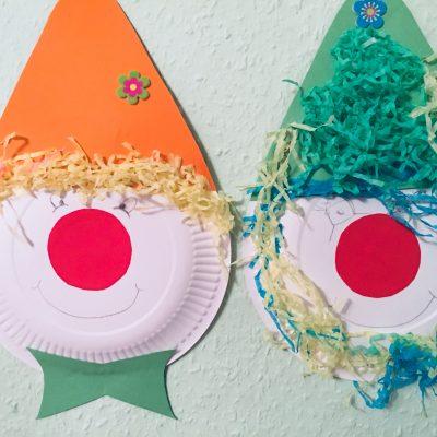 Clowns aus Pappteller basteln – Karneval kommt