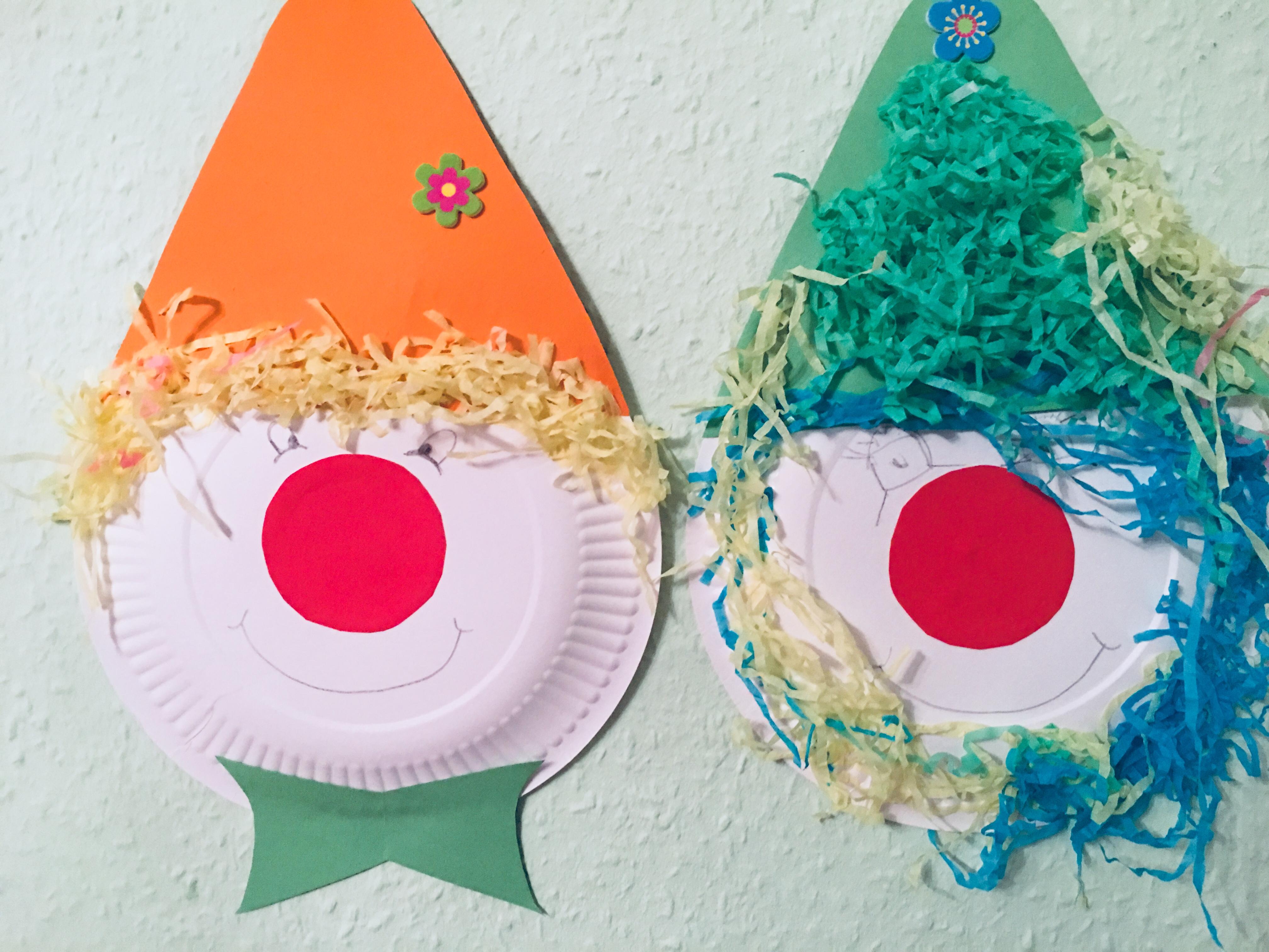 Clowns aus pappteller basteln karneval kommt der familienblog f r kreative eltern - Clown basteln kindergarten ...