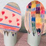 Osternest aus Toilettenpapierrollen – Basteln für Ostern