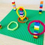 Ringwurfspiel aus Lego bauen – Spielen mit Kindern