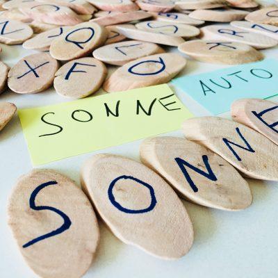 Wörter legen – Montessori