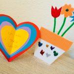 Karten für den Muttertag basteln mit Kindern