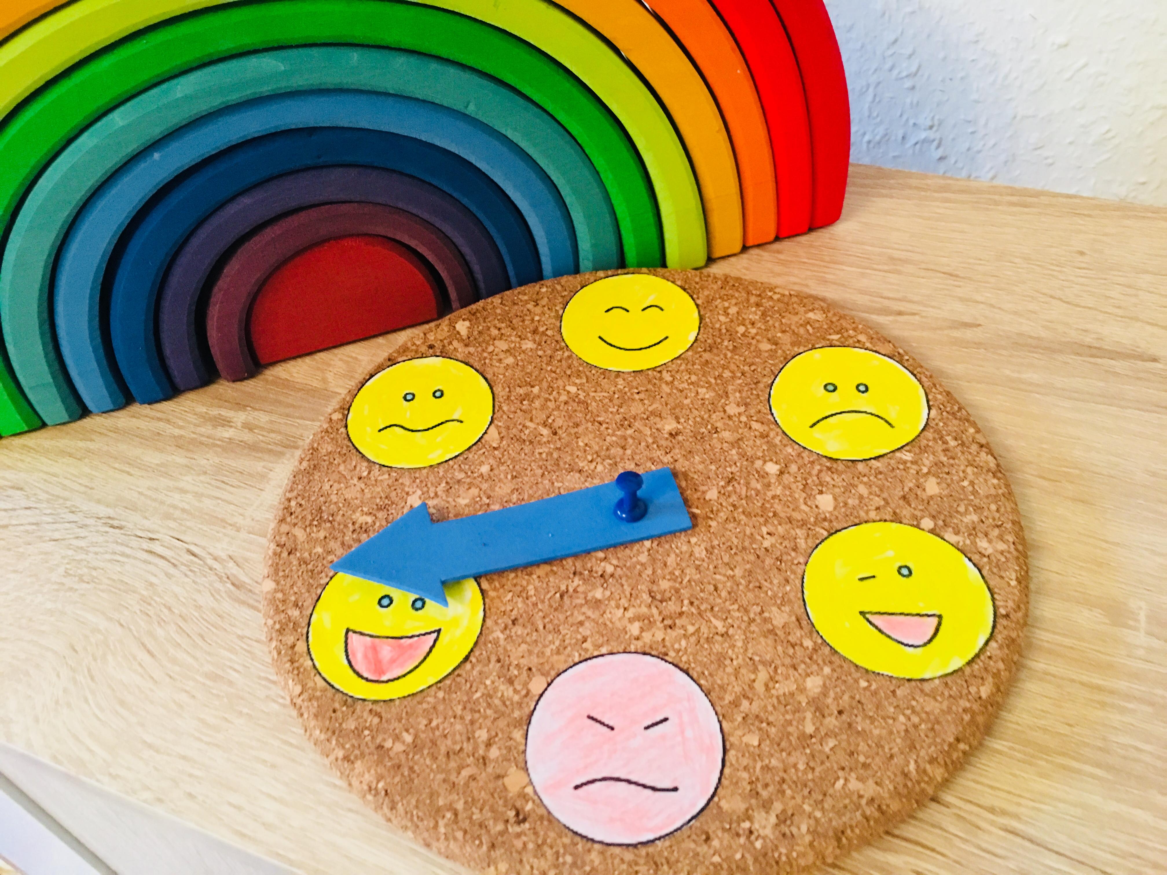 Eine Gefühle Uhr Basteln Kinder Verstehen Der