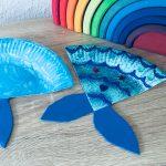Meerjungfrau aus Pappteller Teil I – Basteln mit Kindern