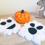Watte Gespenster für Halloween basteln