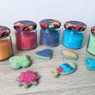 Glitzer Zucker zum dekorieren selber machen – Backen mit Kindern