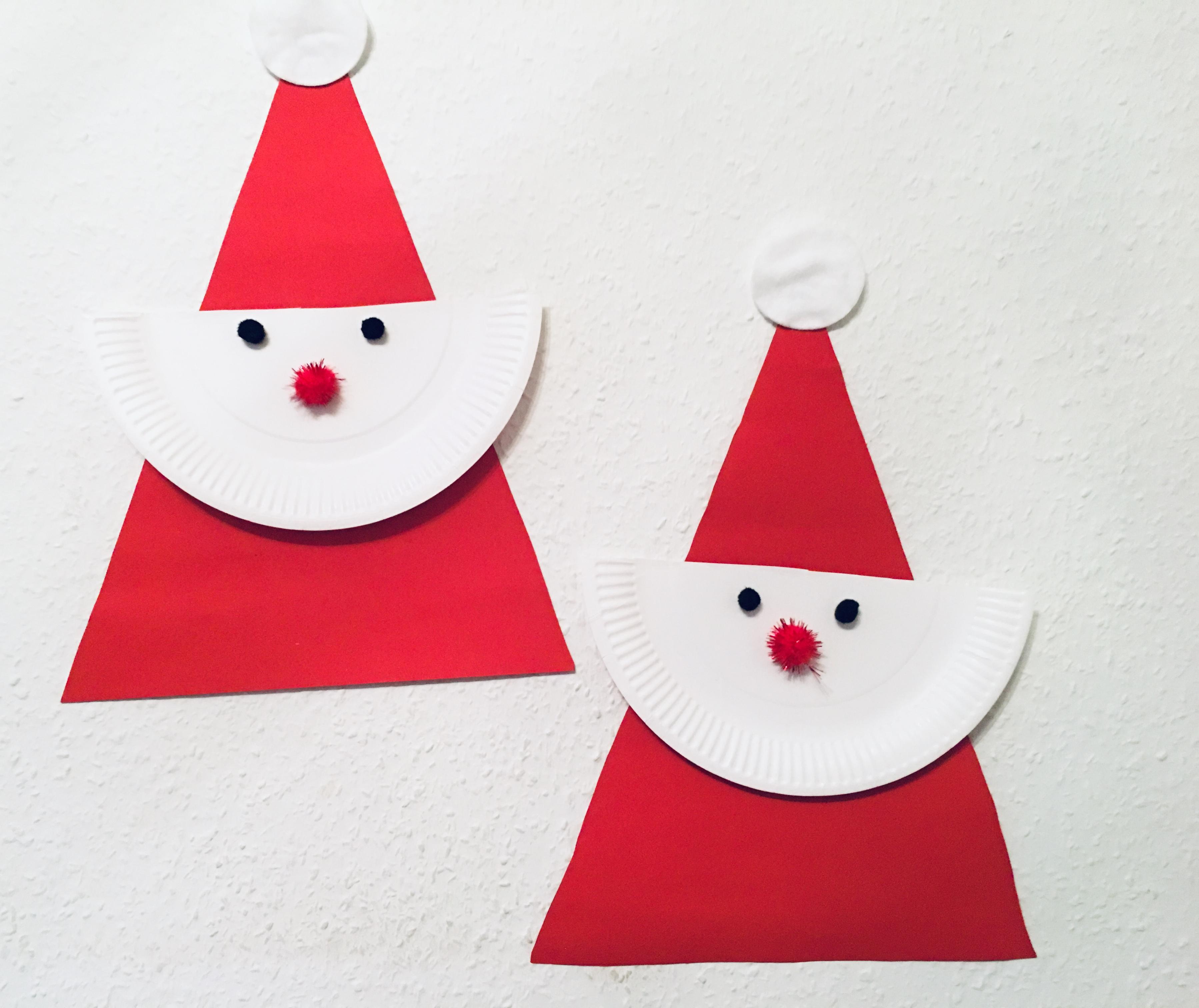 einfacher weihnachtsmann aus pappteller basteln mit kindern der familienblog f r kreative eltern