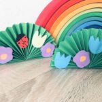 Blumenwiese aus Papier – Basteln mit Kindern