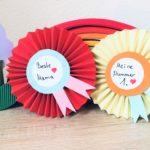 Orden aus Papier basteln – Basteln für Muttertag