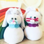Socken Osterhasen – Basteln für Ostern