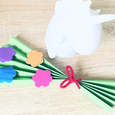 Blumenstrauss aus Papier basteln – Basteln mit Kindern