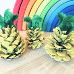Ananas aus Kiefernzapfen basteln – Basteln mit Kindern