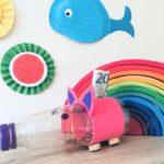 Spardose aus PET Flasche – Upcycling mit Kindern