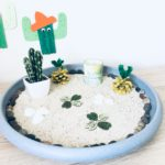 Einen Garten mit Sand bauen – Basteln mit Kindern