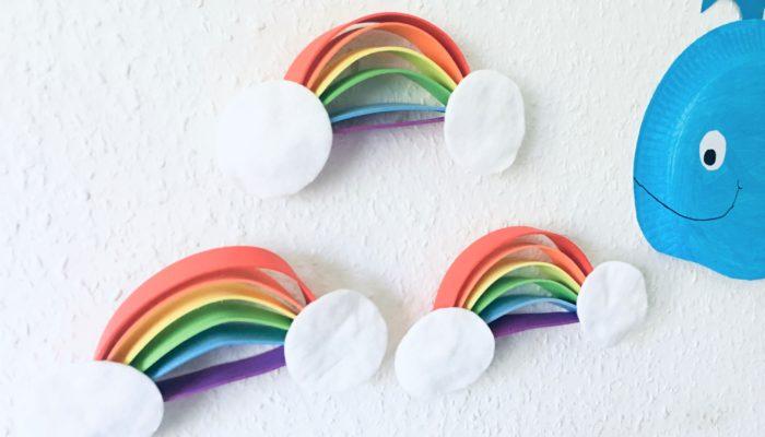 Regenbogen aus Moosgummi – Basteln mit Kindern