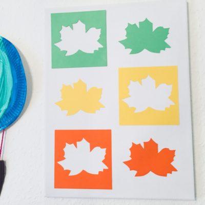 Kunterbuntes Herbst Blätter Bild – Basteln im Herbst
