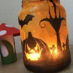 Halloween Windlichter basteln – Gruseln mit Anni