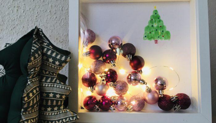 Mit Bilderrahmen Deko basteln – Basteln für Weihnachten