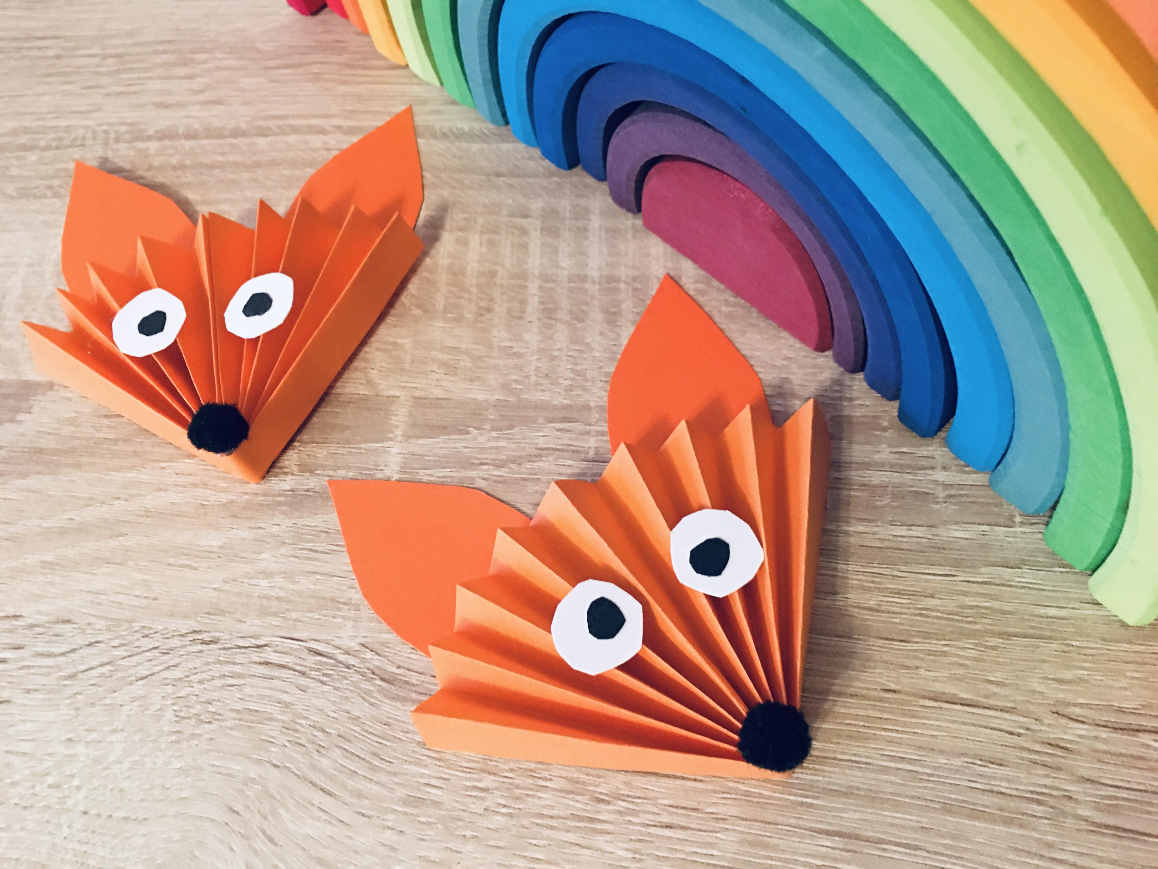 Fuchs Aus Papier Basteln Basteln Im Herbst Der Familienblog