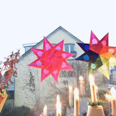 Weihnachtsstern aus Tranparentpapier – Basteln für Weihnachten