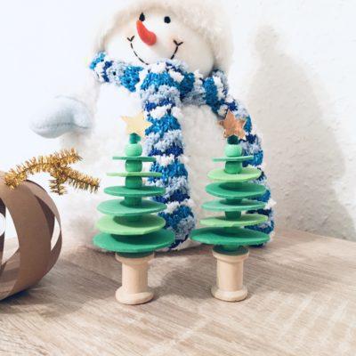 Weihnachtsbaum aus Moosgummi – Basteln mit Kindern