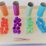 Farben sortieren – Montessori