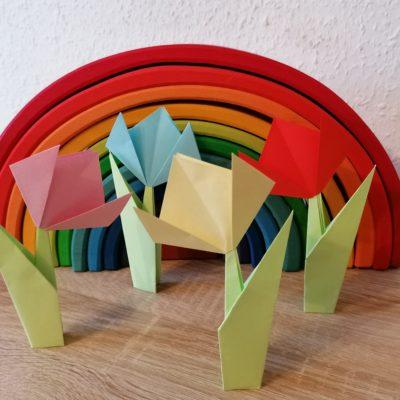 Easy Peasy Origami Tulpen – Basteln mit Papier