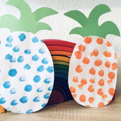 Sommerliche Ananas aus Papier – Basteln mit Kindern